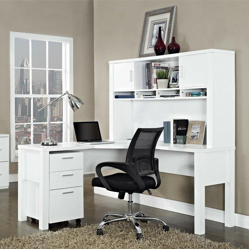 Magdalena L-Shape Corner Desk & Latitude Run Magdalena L-Shape Corner Desk u0026 Reviews | Wayfair
