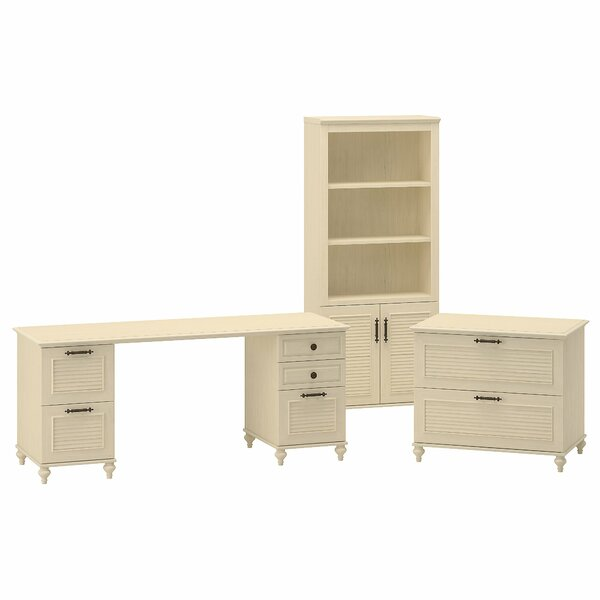 Volcano Dusk Standard 3 Piece Desk Office Suite by Kathy Ireland Office by Bush