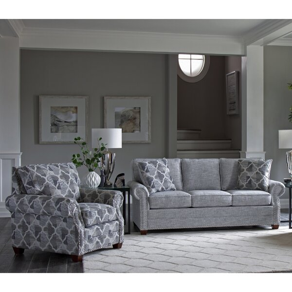 Peebles 2 Piece Sleeper Living Room Set by Canora Grey