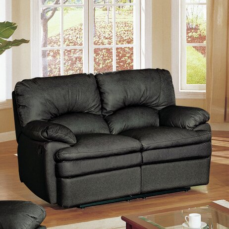 Haines Top Grain Leather Reclining Loveseat by Wildon Home ®