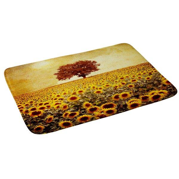 Viviana Gonzalez Lone Tree and Sunflowers Field Floral Bath Rug