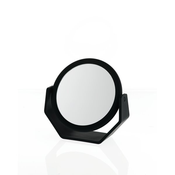 Midnight Matte Round Vanity Mirror by Danielle Creations