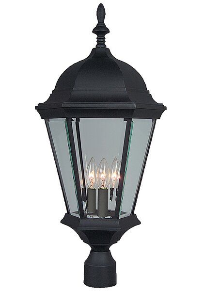 Oakhill 3-Light Matte Black Aluminum Lantern Head by Charlton Home