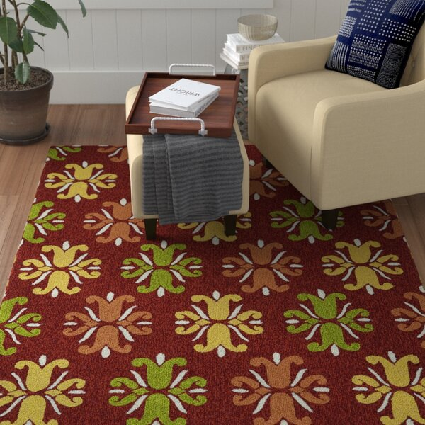 Stepanie Red Indoor/Outdoor Area Rug by Winston Porter
