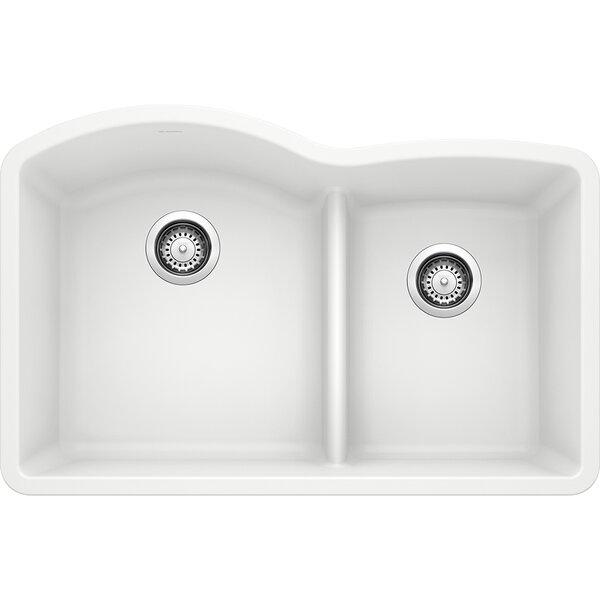 Diamond Silgranit 32 L x 21 W Double Basin Undermount Kitchen Sink