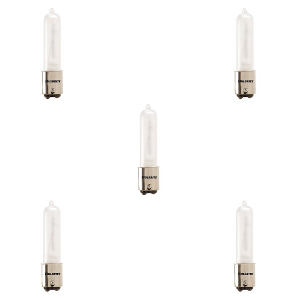 250W BA15d Dimmable Halogen Stick Light Bulb Frosted (Set of 5) by Bulbrite Industries