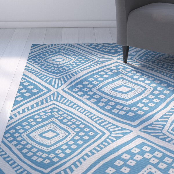 Abbie Flat Woven Blue Indoor/Outdoor Area Rug by Ebern Designs