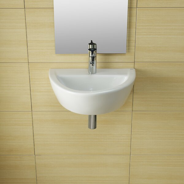 Universal Ceramic 20 Wall Mount Bathroom Sink by Bissonnet