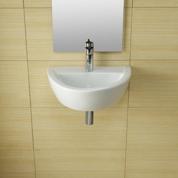 Universal Ceramic 20 Wall Mount Bathroom Sink by Bissonnet