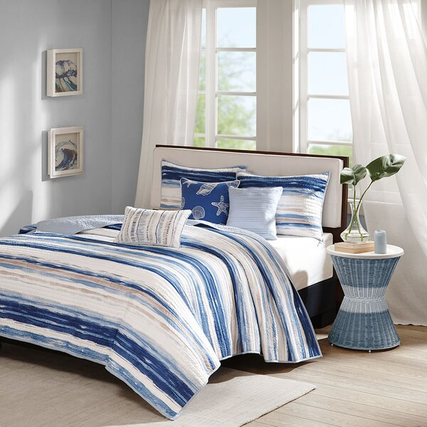 Cardiff 6 Piece Coverlet Set by Beachcrest Home