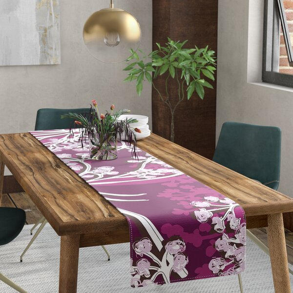 Suzie Tremel Squiggly Floral Table Runner by East Urban Home