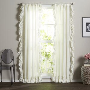 Ivory And Cream Curtains Amp Drapes You Ll Love Wayfair