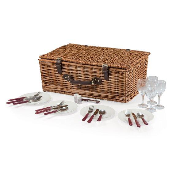 Newbury Picnic Basket Set by Highland Dunes