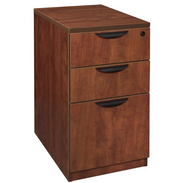 Linh Desk Side Box 3-Drawer Vertical Filing Cabinet