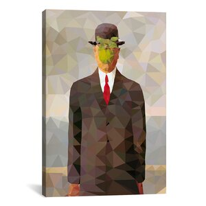 Son of Man Derezzed Graphic Art on Wrapped Canvas by Brayden Studio