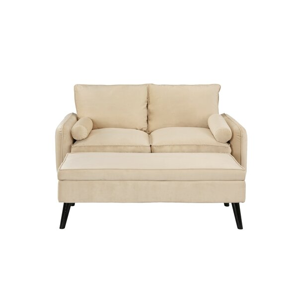 Oakgrove Loveseat with Ottoman by Wrought Studio