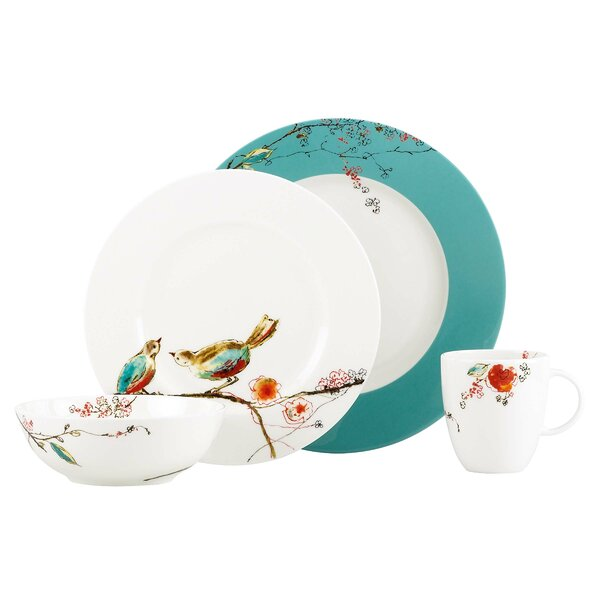Chirp 4 Piece Bone China Place Setting Set, Service for 1 by Lenox