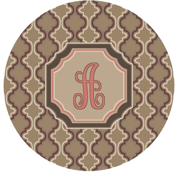 Lanikai Monogrammed Pink Area Rug by Red Barrel Studio