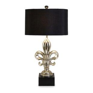 Fleur de lis lamp wayfair camargo fleur de lis 33 table lamp mozeypictures Image collections