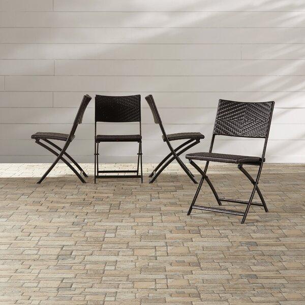 Kapteyn Folding Patio Dining Chair (Set of 4) by Mercury Row