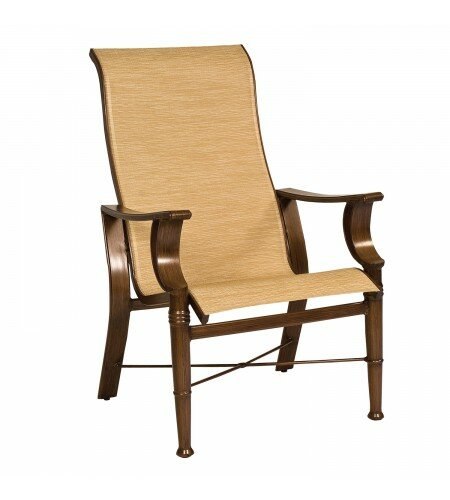 Arkadia High-Back Patio Dining Chair (Set of 2) by Woodard