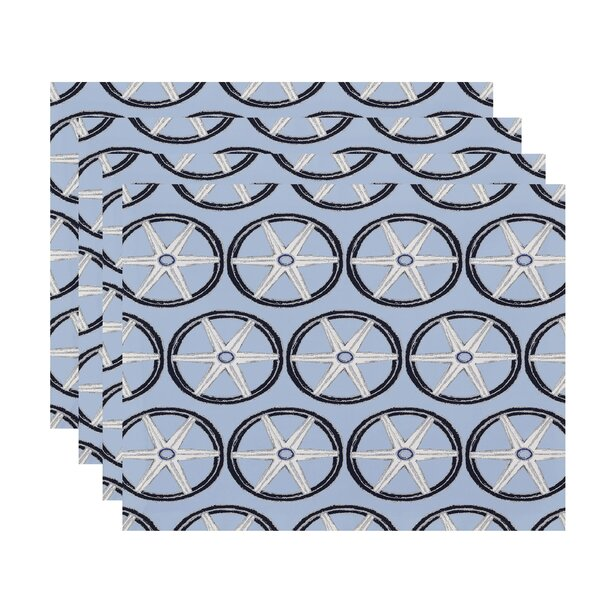 Harriet Nautical Placemat (Set of 4) by Breakwater Bay