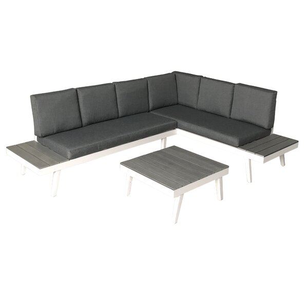 Gilmartin 3 Sectional Seating Group with Cushions by Highland Dunes