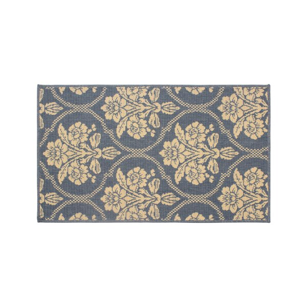Jaya Tatton in Chain Blue/Beige Indoor/Outdoor Area Rug by Laura Ashley Home