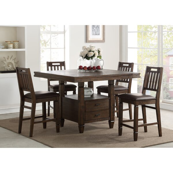 Rodriguez 5 Piece Pub Table Set by Union Rustic