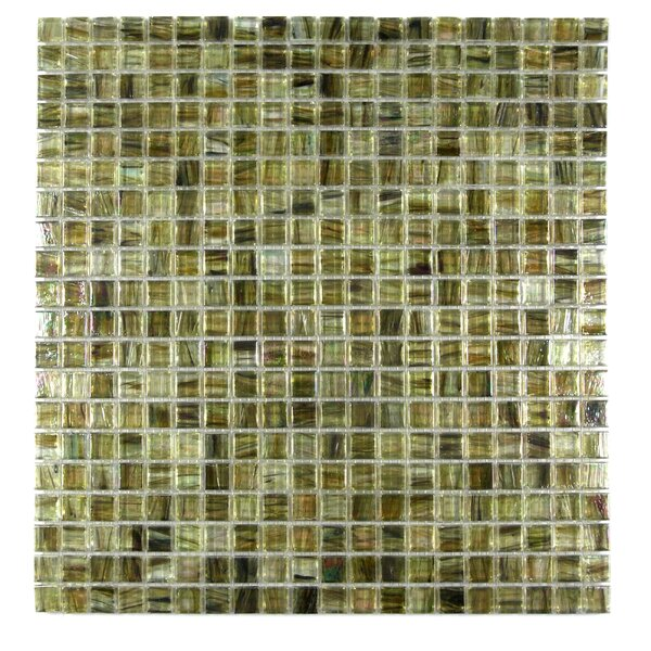 Honey Berries 0.63 x 0.63 Glass Mosaic Tile in Glazed Pearl Coral by Abolos