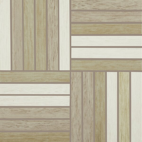 Harmony Grove 1 x 6 Porcelain Wood look Tile in Olive Cotton/Champagne/Greige by PIXL