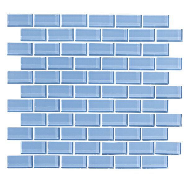2 x 1 Glass Subway Tile in Sky Blue by Vicci Design
