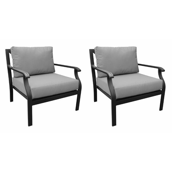 Madison Patio Chair with Cushions (Set of 2) by kathy ireland Homes & Gardens by TK Classics