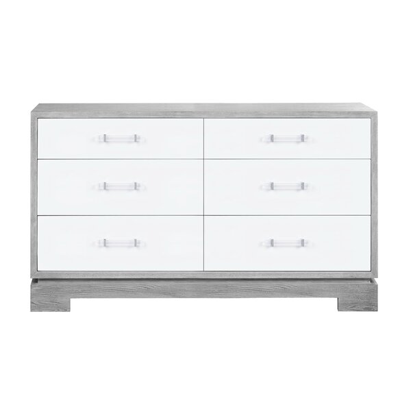 6 Drawer Double Dresser by Worlds Away