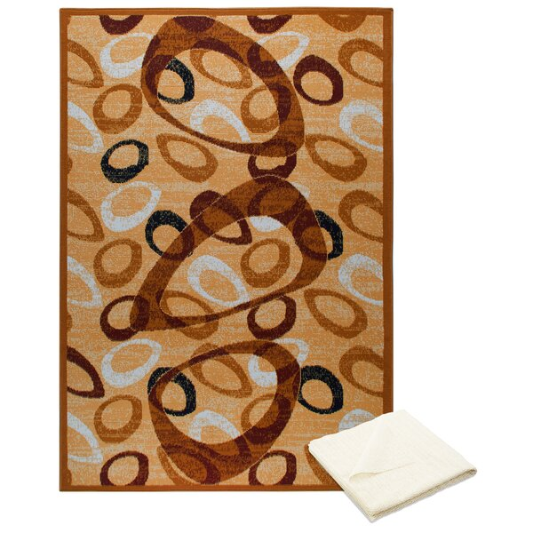 Bear Cream Area Rug by Ebern Designs