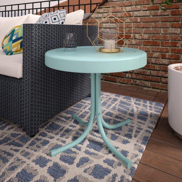 Timothea Steel Side Table by Mercury Row