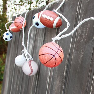 10-Light 7.5 ft. Sports Ball String Lights