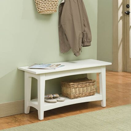 Bel Air Wood Storage Bench by Alcott Hill
