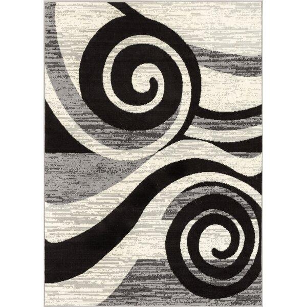 Larabee Gray/Black Area Rug by Ebern Designs