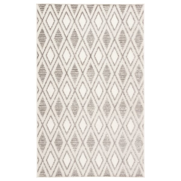 Pineville Trellis Gray/Beige Indoor/Outdoor Area Rug by Union Rustic