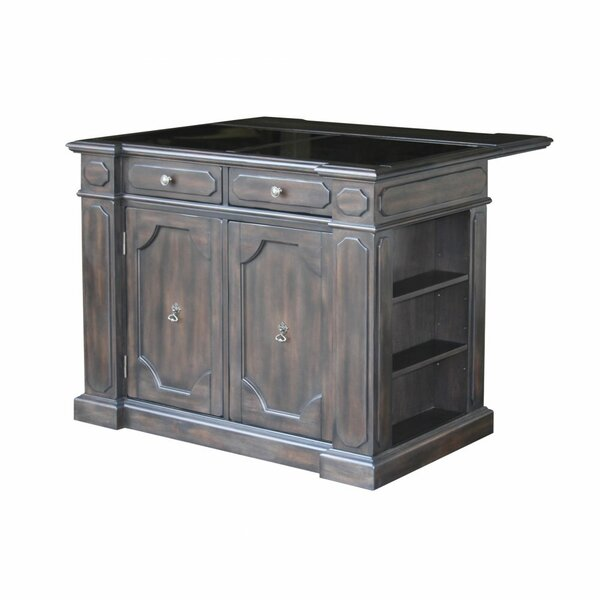 Hacienda Kitchen Island with Granite Top by Home Styles