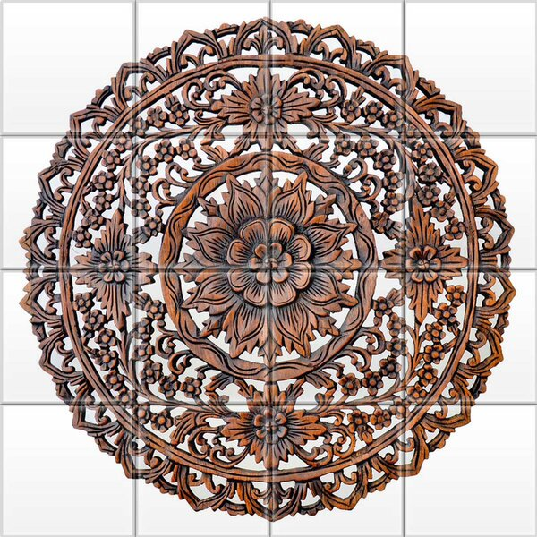 2 x 2 Glass Decorative Mural Tile in Dark Brown by Upscale Designs by EMA