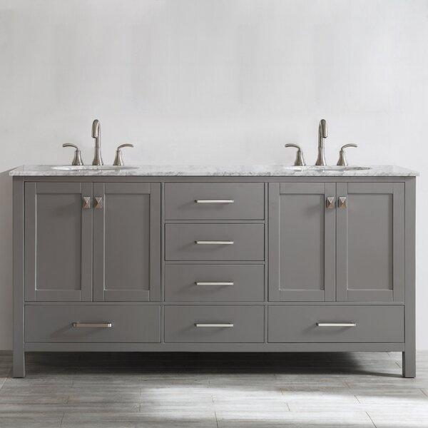 Newtown 72 Double Bathroom Vanity Set by Beachcrest Home