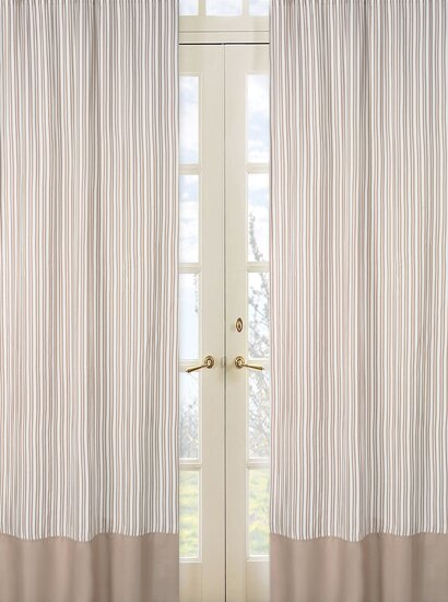 Giraffe Striped Semi-Sheer Rod pocket Curtain Panels (Set of 2) by Sweet Jojo Designs