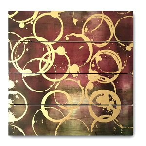 Wine Gold Graphic Art on Plaque by World Menagerie