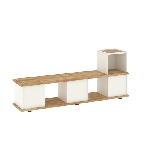Chon Wood and Metal Storage Bench Brayden Studio Colour: Whi
