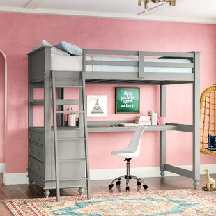 Bunk Bed With Desk And Drawers Wayfair