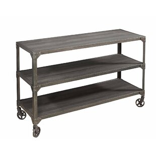 Damian Wood and Metal Loft Console Table by 17 Stories