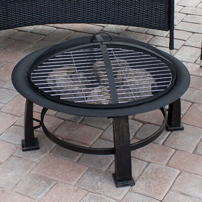 Steel Wood Burning Fire Pit by AZ Patio Heaters