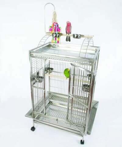 Large Play Top Bird Cage with Bird Toy Hook by A&E Cage Co.
